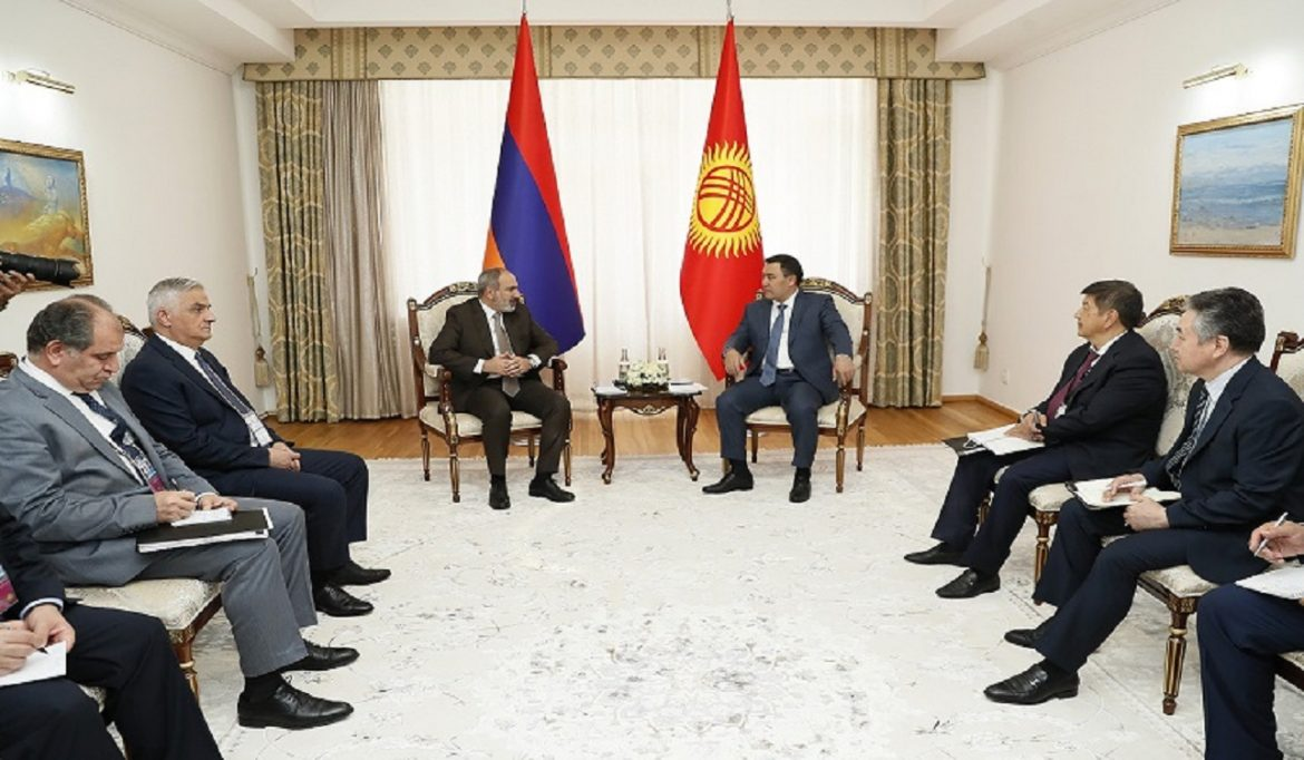 Armenia and Kyrgyzstan to activate economic ties. Prime Minister had a meeting with President of Kyrgyzstan